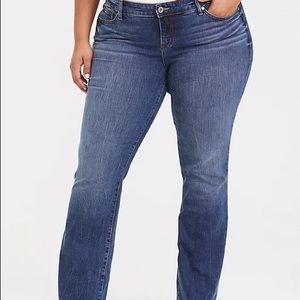Torrid Blue Relaxed Boot Jeans
